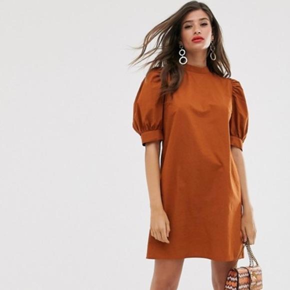 ASOS Vila High Neck Mini Dress